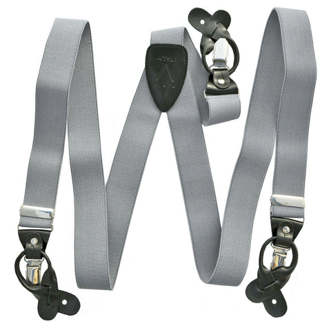 New in box Men/'s Elastic Suspender Royal Blue Braces clips buttons wedding