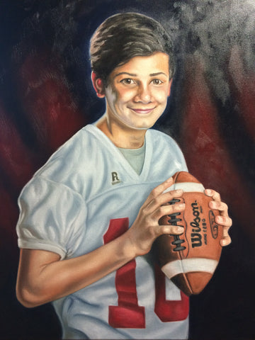 Elijah's Football Portrait: The Process