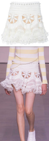 'Breeze' Doily Mini Skirt