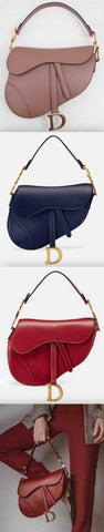 Saddle Calfskin Bag - Blush, Blue, Red | DESIGNER INSPIRED FASHIONS
