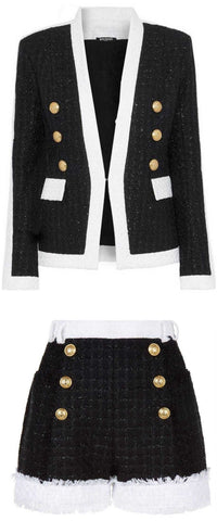Tweed Jacket and Short Set | DESIGNER INSPIRED FASHIONS