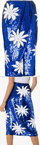 Floral Sequin Embellished Skirt | DESIGNER INSPIRED FASHIONS