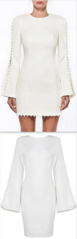 'Analiese' Mini Dress, White