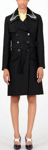 Belted Double-Breasted Coat | DESIGNER INSPIRED FASHIONS
