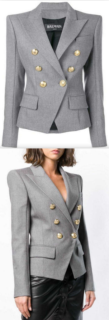 Double Breasted Blazer in Grey