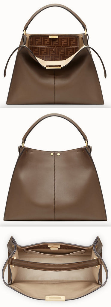Peekaboo X-Lite Regular Brown Leather Bag