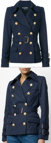 Double-Breasted Belted Jacket | DESIGNER INSPIRED FASHIONS