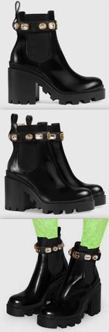 Leather Ankle Boots with Belt | DESIGNER INSPIRED FASHIONS