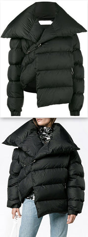 Asymmetric Puffer Coat
