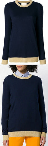 Perfectly Fitted Metallic Trim Sweater