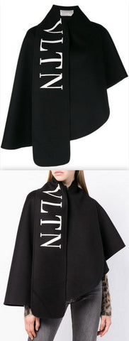 'VLTN' Logo Short Cape