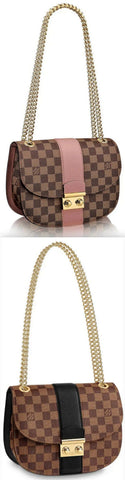 Wight Damier Ebene Canvas Handbag - Magnolia Pink or Black