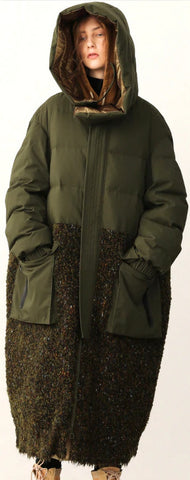 Textured Oversized Down Coat *Low Stock*