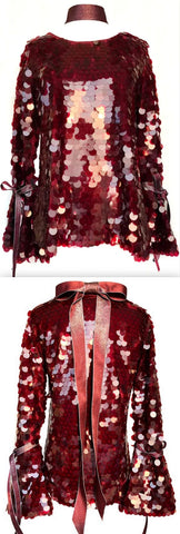 'Candy Apple' Bow Embellished Top