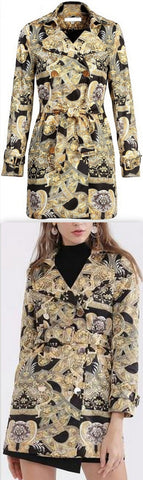 Baroque Double-Breasted Short Coat