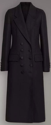 Double Breasted Wool Tailored Coat