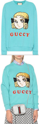 Guccy Embroidered Cotton Sweatshirt