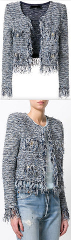 Bouclé Fringed Tweed Jacket
