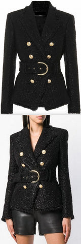 Belted Double-Breasted Jacket