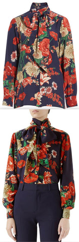 Spring Bouquet Silk Shirt