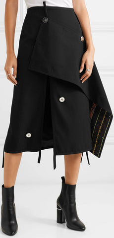 Asymmetric Embellished  Skirt