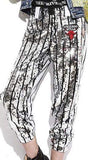 Sequin Embellished Stripe Pants - DESIGNER INSPIRED FASHIONS