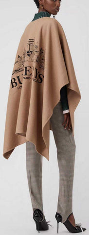 Embroidered Skyline Cashmere Poncho | DESIGNER INSPIRED FASHIONS