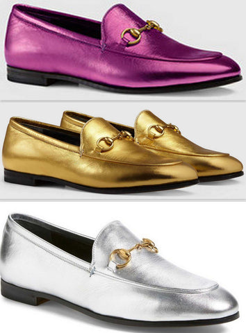 'Jordaan' Metallic Leather Loafers - (Purple, Gold, Silver) - DESIGNER INSPIRED FASHIONS