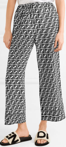 Cropped Printed FF Logo Pants