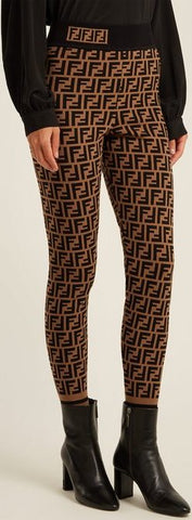 FF Logo-Knitted Leggings