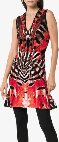 Butterfly Jacquard Mini Dress