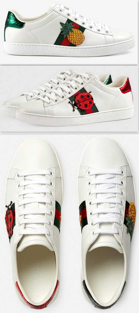 7db541b36c0 Ace Embroidered Low Top Sneaker - Pineapple   Ladybug - DESIGNER INSPIRED  FASHIONS