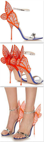 'Chiara' Butterfly-Wing Sandals - DESIGNER INSPIRED FASHIONS