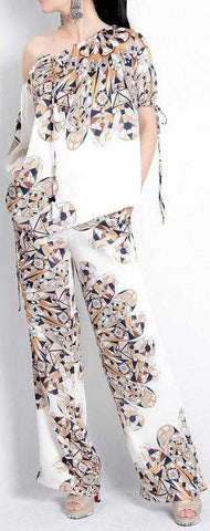 Abstract Geometric Top and Pant Set | DESIGNER INSPIRED FASHIONS