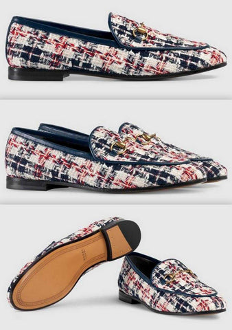 'Jordaan' Tweed Check Loafers | DESIGNER INSPIRED FASHIONS