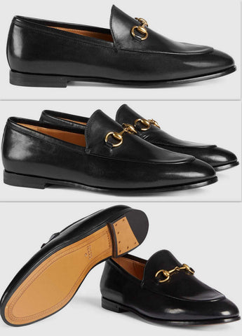 'Jordaan' Leather Loafers in Black - DESIGNER INSPIRED FASHIONS