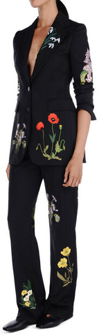 'Charlene' Floral Embroidered Blazer/Jacket & Pant Set - DESIGNER INSPIRED FASHIONS