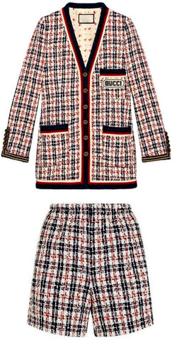 Logo Tweed Jacket and Short Set *Limited Stock* | DESIGNER INSPIRED FASHIONS