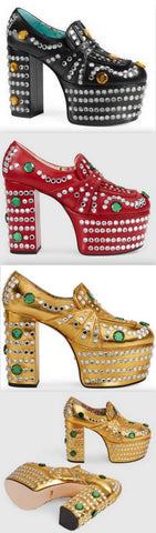 'Amilina' Embellished Platform Loafer - Black, Red, Metallic Gold | DESIGNER INSPIRED FASHIONS