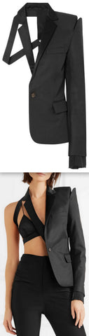 Deconstructed Twill Blazer | DESIGNER INSPIRED FASHIONS