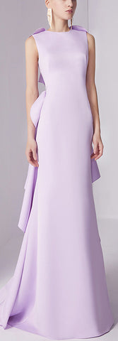 Ruffle-Back Lilac Gown