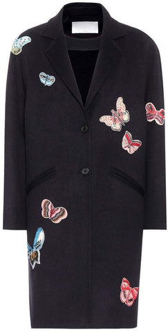 Butterfly Embroidered Wool Coat | DESIGNER INSPIRED FASHIONS