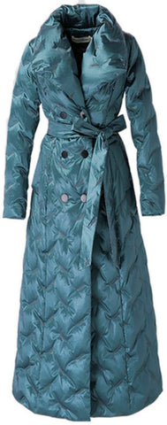Belted Padded Double-Breasted Coat