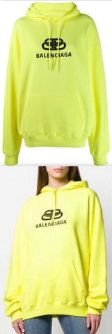 Bb Logo Hoodie Neon Yellow | DESIGNER INSPIRED FASHIONS