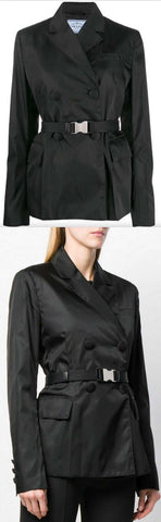 Belted Technical-Fabric Blazer | DESIGNER INSPIRED FASHIONS