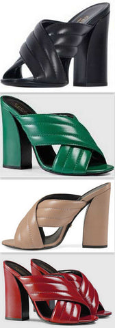 'Webby' Crossover Leather Sandals - ( Black, Green, Beige, Red, White ) - DESIGNER INSPIRED FASHIONS