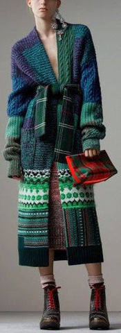 Oversized Patchwork Cardigan Coat