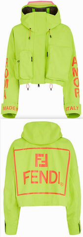 'Roma Amor' Tech Fabric Jacket, Neon | DESIGNER INSPIRED FASHIONS