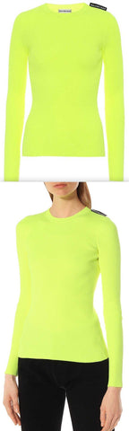 Ribbed Knit Sweater, Neon Yellow | DESIGNER INSPIRED FASHIONS