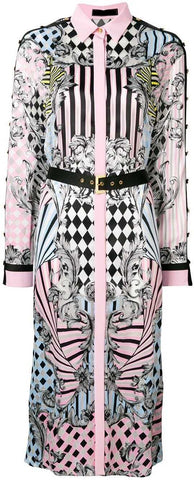 'Harlequin' Print Shirt Dress